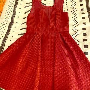 BCBGeneration Burgundy Holiday Dress